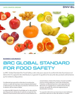 Flyer DNV GL BRC Global Standard Food Safety - Agroalimentaire